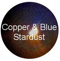 Copper and Blue Stainless Steel Gazing Globe