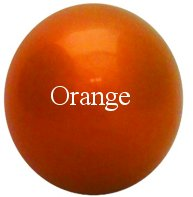 Orange Stainless Steel Gazing Globe