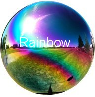 Rainbow Stainless Steel Gazing Globe
