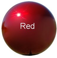 Red Stainless Steel Gazing Globes