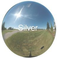 Silver Stainless Steel Gazing Globes