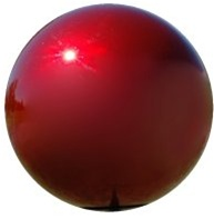 "Red Gazing Globe - Stainless Steel Garden Ball (3"" To 12"")"