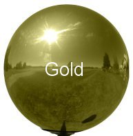 Gold Stainless Steel Gazing Globe
