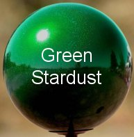 Green Stardust Stainless Steel Gazing Globe