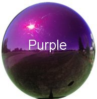 Purple Stainless Steel Gazing Globe