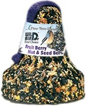 Fruit, Berry, Nut, & Suet Seed Bell - Wild Bird Feed & Attractant