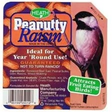 Animal Attractant: Suet Cake - Peanutty Raisin - Wild Bird Seed & Feed