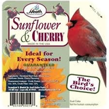 Animal Attractant: Suet Cake - Sunflower Cherry Wild Bird Seed & Feed