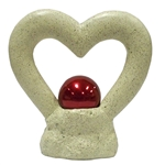 Gazing Globe Heart Shaped Globe Holder - Decorative Garden Ball Stand