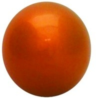 "Orange Gazing Globe - 10"" Stainless Steel Reflective Garden Ball"
